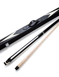 cheap -JIANYING 2-Piece Pool Cues Cue Sticks Billiards Wood Pool Nine-Ball