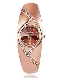 Недорогие -Жен. Модные часы Наручные часы Diamond Watch Кварцевый Позолоченное розовым золотом Коричневый / Розовое золото Имитация Алмазный / Аналоговый Дамы На каждый день Элегантный стиль - Розовое золото