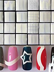 Недорогие -24 pcs Советы по французскому дизайну маникюр Маникюр педикюр Мода Повседневные / Руководство по французским советам