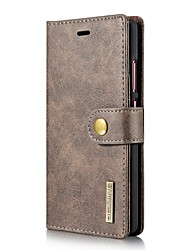 cheap -Case For Huawei P9 / Huawei P10 Plus / P10 / Huawei P9 Wallet / Card Holder / Flip Full Body Cases Solid Colored Hard Genuine Leather