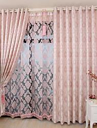abordables -les rideaux écologiques faits sur commande drapent deux panneaux or / jacquard / chambre à coucher