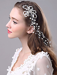 cheap -Pearl Headbands / Hair Clip with 1 Wedding / Special Occasion Headpiece