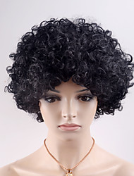 cheap -Synthetic Wig Curly Curly Wig Short Black#1B Synthetic Hair Women's Black