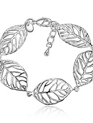 cheap -Women's Chain Bracelet Leaf Vintage Fashion Sterling Silver Bracelet Jewelry Silver For Wedding Party Birthday Gift