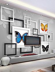 cheap -Custom Large 3D Wallpaper Mural Photo Frame Butterfly Background Living Room Bedroom TV Wallcovering
