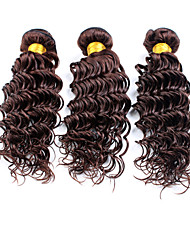 cheap -4 Bundles Brazilian Hair Deep Wave Natural Color Hair Weaves / Hair Bulk Human Hair Weaves Human Hair Extensions / 8A