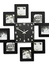 Недорогие -Модерн Офисный Семья Школа/выпускной Друзья Настенные часы,Новинки Хрусталь Металл 45*45 В помещении Часы