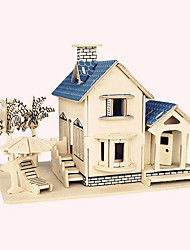 cheap -Wooden Puzzle Wooden Model Famous buildings Chinese Architecture House Professional Level Wooden 1 pcs Kid's Adults' Boys' Girls' Toy Gift