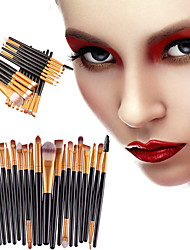 cheap -Professional Makeup Brushes Makeup Brush Set 20pcs Portable Eco-friendly Professional Plastic Makeup Brushes for Eyeliner Brush Blush Brush Lip Brush Eyebrow Brush Eyeshadow Brush Concealer Brush