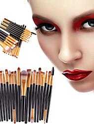 abordables -Professionnel Pinceaux à maquillage ensembles de brosses 20pcs Portable Economique Professionnel Plastique Pinceaux de Maquillage pour Pinceau Eye-liner Pinceau Fard à Joues Pinceau à Lèvres Brosse