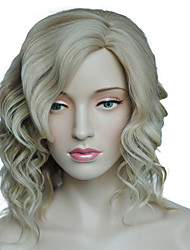 cheap -Synthetic Wig Curly Curly Wig Blonde Light Blonde Synthetic Hair Women's Side Part Blonde