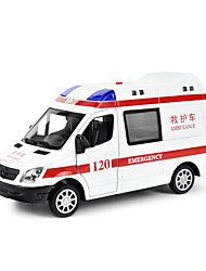 cheap -Model Car Pull Back Vehicle Ambulance Vehicle Car Novelty Music & Light Classic & Timeless Boys' Toy Gift / Metal