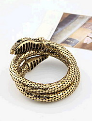 cheap -Women's Bracelet Bangles Layered Snake Statement Punk European Rock Fashion Rhinestone Bracelet Jewelry Gold For Gift