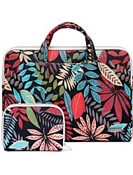 "cheap -11.6"" 13.3"" 15.6"" Leaf Pattern Laptop Handbag+Power Pouch for Macbook/Dell/Hp/Sony/Surface/Ausa/Acer/Samsun etc"