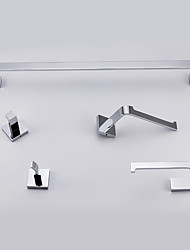 cheap -Bathroom Accessory Set Towel Bar Toilet Paper Holder Robe Hook Contemporary Brass Chrome Wall Mounted