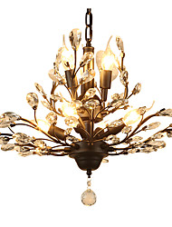 abordables -LightMyself™ 7 lumières Lustre Lumière d'ambiance Finitions Peintes Métal Cristal, LED 110-120V / 220-240V Ampoule non incluse / E12 / E14