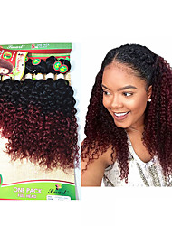 cheap -8 14inch 8 pcs lot brazilian deep curly ombre burgundy color virgin hair brazilian virgin hair kinky curly hair weave bundles cheap human hair