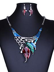cheap -Women's AAA Cubic Zirconia Jewelry Set Luxury Classic Fashion Colorful Imitation Diamond Earrings Jewelry Black / Rainbow / Green For Daily