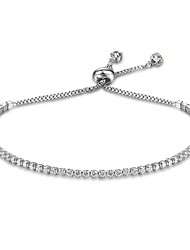 cheap -Women's Chain Bracelet Tennis Bracelet Drop Ladies Natural Sterling Silver Bracelet Jewelry Gold / Silver For Gift Valentine