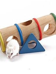 Недорогие -Грызуны Мышь хомяк Клетки Игрушки Дерево Синий  / Красный