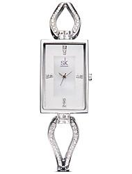 cheap -SK Women's Fashion Watch Square Watch Quartz Ladies / Analog Rose Gold Silver