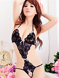 cheap -Women's Backless Plus Size Lace Lingerie Matching Bralettes Ultra Sexy Nightwear Black S M L