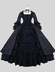 cheap -Gothic Lolita Dress / Punk Lolita Dress Satin Women's Dress Cosplay Black Long Sleeve Ankle Length