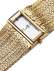 Недорогие -ASJ Жен. Часы-браслет золотые часы Квадратные часы Японский Кварцевый Медь Серебристый металл 30 m Защита от влаги Ударопрочный Аналоговый Дамы Кулоны На каждый день - Серебряный Золотистый