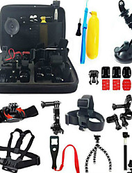 cheap -Accessory Kit For Gopro Anti-Shock All in One 37 pcs For Action Camera Gopro 5 Xiaomi Camera Gopro 4 Gopro 3 Gopro 2 Ski / Snowboard Hunting and Fishing Rock Climbing Plastic Nylon Aluminium / SJ5000