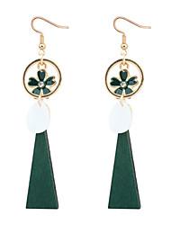 cheap -Women's Drop Earrings Flower European Fashion Wood Earrings Jewelry Black / Red / Green For Party Daily