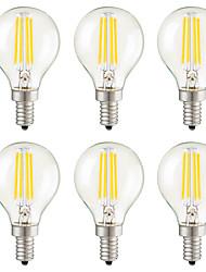 Недорогие -KWB 6шт 3 W LED лампы накаливания 400 lm E14 E12 E26 / E27 G45 4 Светодиодные бусины COB Диммируемая Декоративная Тёплый белый 220-240 V 110-130 V / 6 шт. / RoHs