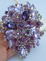 cheap -Crystal Brooches Vintage Party Casual everyday Crystal Rhinestone Brooch Jewelry Purple For Wedding Party Special Occasion Anniversary Birthday Engagement