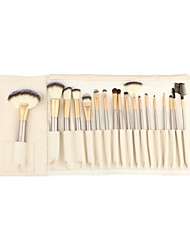 cheap -Professional Makeup Brushes Eyeshadow Brush 18pcs Portable Travel Eco-friendly Professional Synthetic Hair Wood Makeup Brushes for
