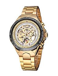 cheap -WINNER Men's Skeleton Watch Wrist Watch Analog Automatic self-winding Luxury Water Resistant / Waterproof Hollow Engraving Luminous / Stainless Steel / Stainless Steel