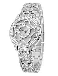 cheap -Women's Fashion Watch Dress Watch Pave Watch Quartz Silver / Gold Imitation Diamond / Analog Charm Casual - Gold Silver