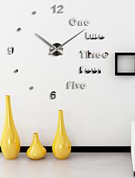 cheap -Super Big DIY Wall Clock AcrylicEVRMetal Mirror Super Big Personalized Digital Watches Clocks