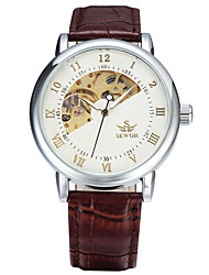 cheap -Men's Sport Watch Fashion Watch Dress Watch Automatic self-winding Genuine Leather Multi-Colored 50 m Analog Charm Classic Casual - Gold / Brown White / Silver White / Brown
