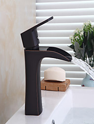 cheap -Black Bathtub Faucet - Waterfall Oil-rubbed Bronze Centerset Single Handle One HoleBath Taps