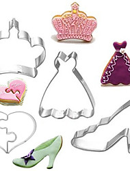 cheap -4Pcs Stainless Steel Queen Series Fondant Cookie Cutters Molds Sugar Paste Cake