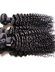 cheap -Remy Human Hair Remy Weaves Curly / Kinky Curly Brazilian Hair 200 g More Than One Year