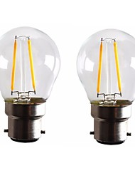 cheap -ONDENN 2pcs 2 W LED Filament Bulbs 160-200 lm B22 G45 2 LED Beads COB Dimmable Warm White 220-240 V 110-130 V / 2 pcs / RoHS