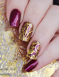 cheap -1 sheet embossed flower 3d nail stickers blooming 3d nail art stickers decals