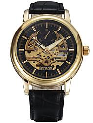 Недорогие -Муж. Спортивные часы Модные часы Нарядные часы Механические, с ручным заводом Натуральная кожа Разноцветный 30 m Календарь Аналоговый Кулоны Классика На каждый день - Золотистый Brown / Gold