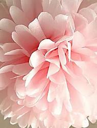 abordables -10pcs pas cher papier boules de fleurs pour la maison de mariage décoration artisanat de voiture