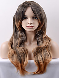 cheap -Synthetic Wig Loose Wave Loose Wave Wig Long Very Long Black / Honey Blonde Synthetic Hair Women's Brown