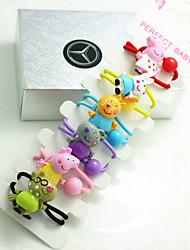 cheap -6 pcs hair rope elastic girl children hair accessories cartoon animal