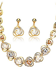 cheap -Women's Jewelry Set Ladies European 18K Gold Plated Pearl Earrings Jewelry Gold For Wedding Party Daily Masquerade Engagement Party Prom