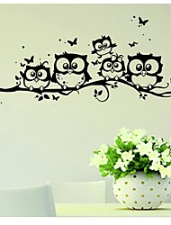 cheap -Animals Wall Stickers Plane Wall Stickers Decorative Wall Stickers, Vinyl Home Decoration Wall Decal Wall / Glass / Bathroom Decoration 1 / Removable