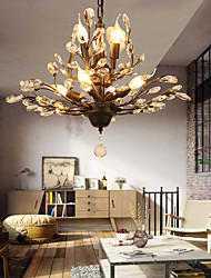 cheap -7-Light 62 cm Crystal / LED Chandelier Metal Painted Finishes Modern Contemporary 110-120V / 220-240V
