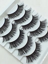cheap -Makeup Tools False Eyelashes 10 pcs Volumized Extra Long Fiber Daily Full Strip Lashes Crisscross - Makeup Daily Makeup Cosmetic Grooming Supplies